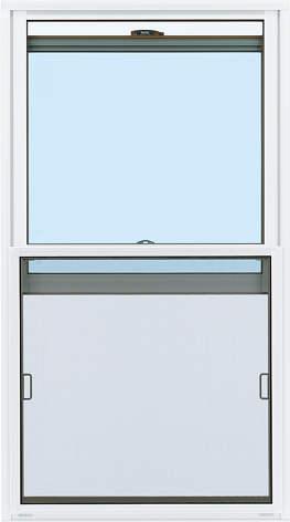 YKKAPオプション窓サッシ装飾窓エピソード:上下スライド網戸[幅678mm×高708mm]