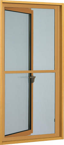 YKKAPオプション窓サッシ装飾窓エピソード:上げ下げ網戸[幅598mm×高699mm]