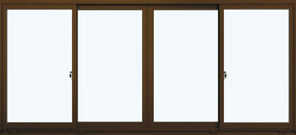 YKKAP窓サッシ コンセプト窓 取替引違い窓7CH-3 複層ガラス(内付型) 4枚建:[幅2606mm×高1207mm]【YKK】【YKKアルミサッシ】【取り替え用サッシ】【引き違い窓】【リフォームサッシ】【木製建具】【ペアガラス】【枠見込み80ミリ】