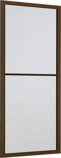 YKKAPオプション玄関引戸れん樹:中桟付網戸2枚建用木目柄
