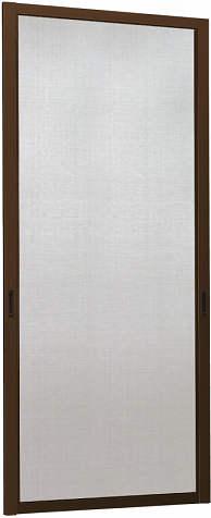YKKAPオプション 玄関引戸 れん樹:中桟無網戸 2枚建用 アルミ色