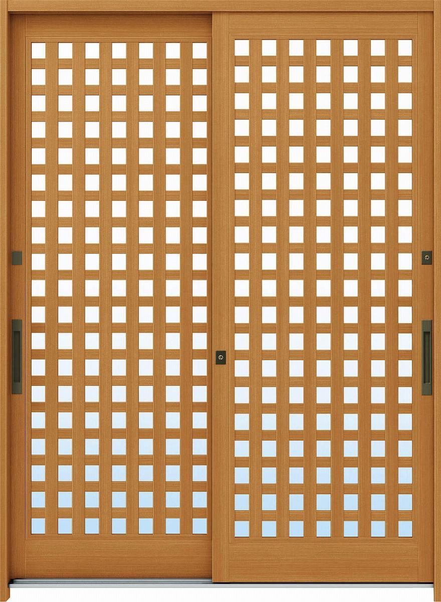 【保証書付】 れん樹[伝統和風] 玄関引戸 6尺2枚建[ランマ通し] A11[木目柄]:単板ガラス[幅1690mm×高2230mm]【ykk】【YKK玄関引き戸】【引き戸】【れんじゅ】【玄関戸】【玄関ドア引戸】:ノース&ウエスト YKKAP玄関-木材・建築資材・設備