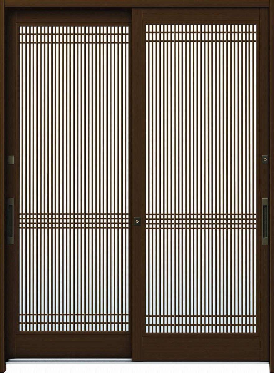 YKKAP玄関 玄関引戸 れん樹 伝統和風 6尺2枚建 ランマ無 A05 アルミ色 単板ガラス 幅1900mm×高1930mm ykk YKK玄関引き戸 引き戸 れんじゅ 玄関戸 玄関ドア引戸