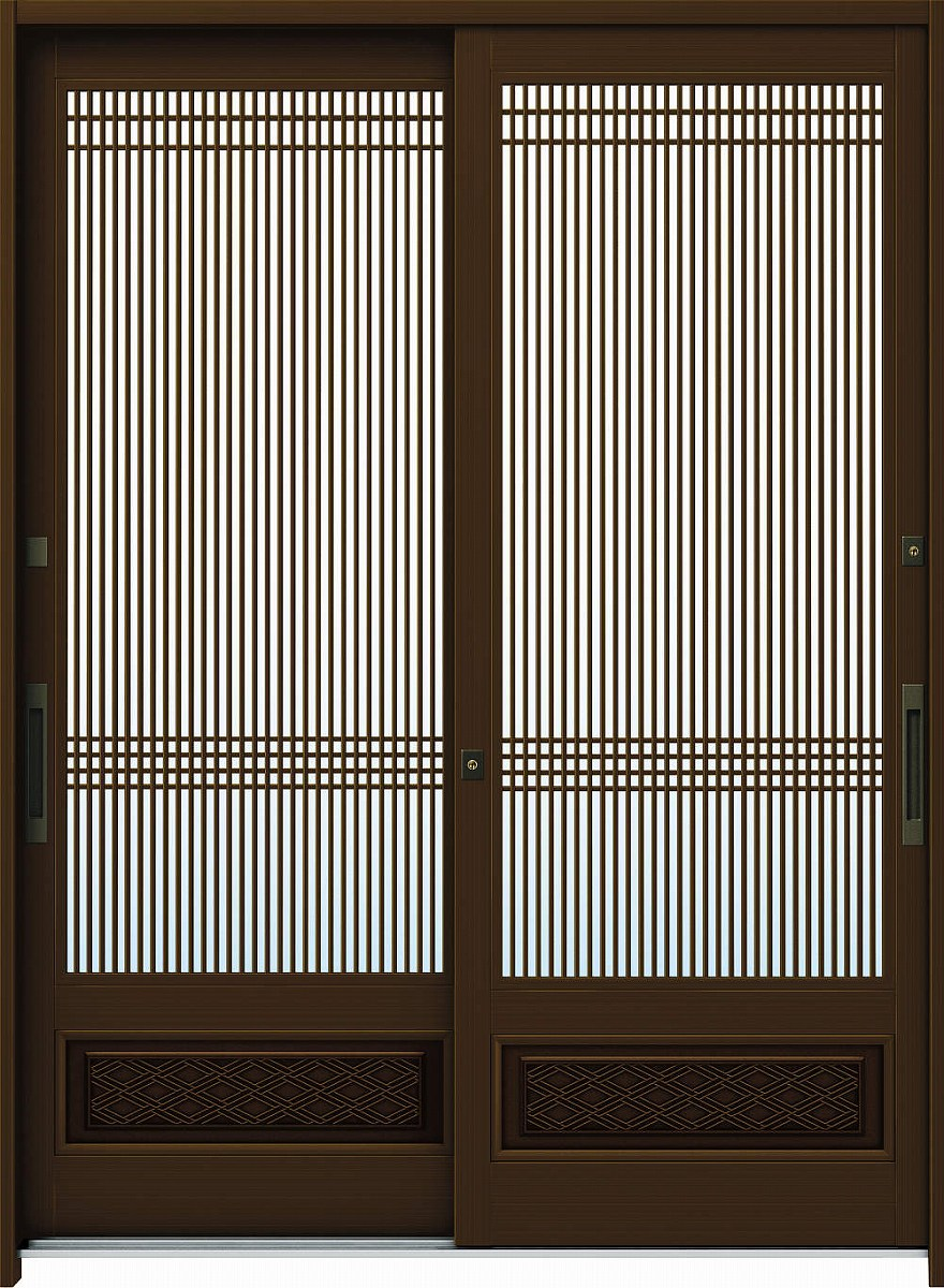 見事な創造力 A06[アルミ色]:単板ガラス[幅1690mm×高1930mm]【ykk】【YKK玄関引き戸】【引き戸】【れんじゅ】【玄関戸】【玄関ドア引戸】:ノース&ウエスト 玄関引戸 6尺2枚建[ランマ無] れん樹[伝統和風] YKKAP玄関-木材・建築資材・設備