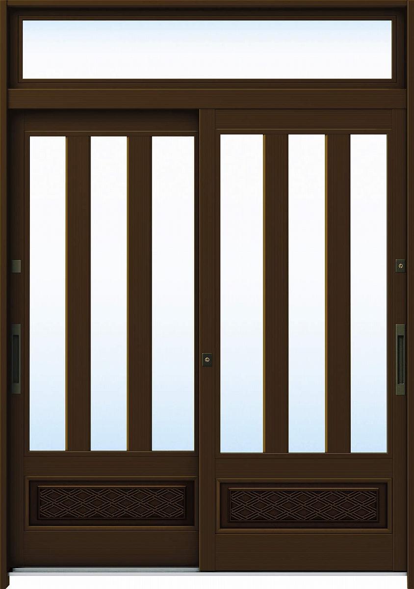 人気を誇る YKKAP玄関 玄関引戸 A08[アルミ色]:単板ガラス[幅1690mm×高2330mm]【ykk】【YKK玄関引き戸】【引き戸】【れんじゅ】【玄関戸】【玄関ドア引戸】:ノース&ウエスト 6尺2枚建[ランマ付] れん樹[伝統和風]-木材・建築資材・設備