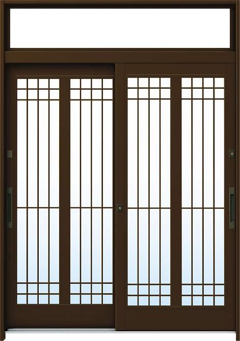 【保証書付】 れん樹[伝統和風] 玄関引戸 A13[アルミ色]:単板ガラス[幅1690mm×高2330mm]【ykk】【YKK玄関引き戸】【引き戸】【れんじゅ】【玄関戸】【玄関ドア引戸】:ノース&ウエスト YKKAP玄関 6尺2枚建[ランマ付]-木材・建築資材・設備