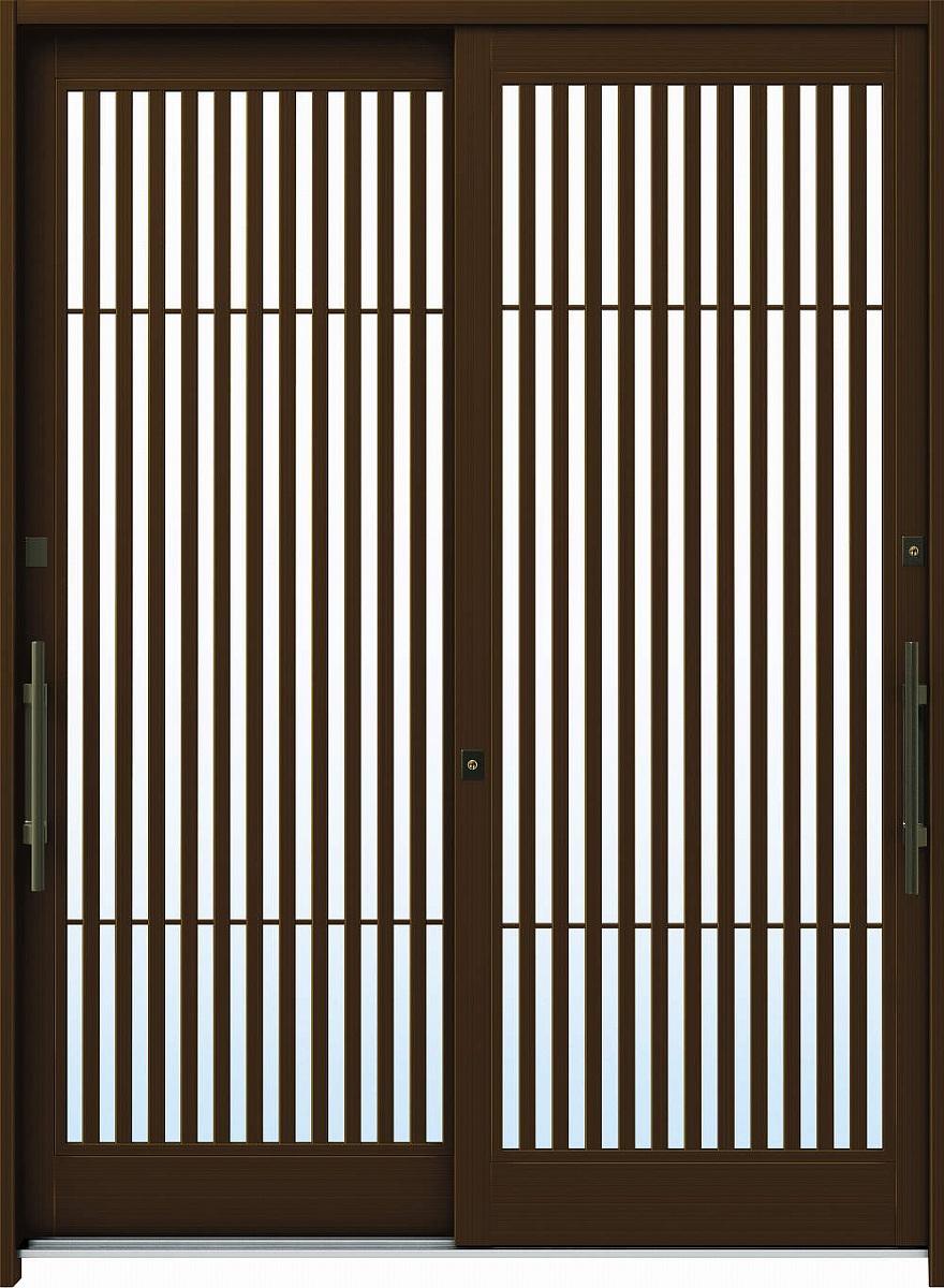 【超ポイント祭?期間限定】 れん樹[伝統和風] A02[アルミ色]:複層ガラス[幅1800mm×高1930mm]【ykk】【YKK玄関引き戸】【れんじゅ】【玄関戸】【玄関ドア引戸】【gennkann】:ノース&ウエスト YKKAP玄関 6尺2枚建[ランマ無] 断熱玄関引戸-木材・建築資材・設備