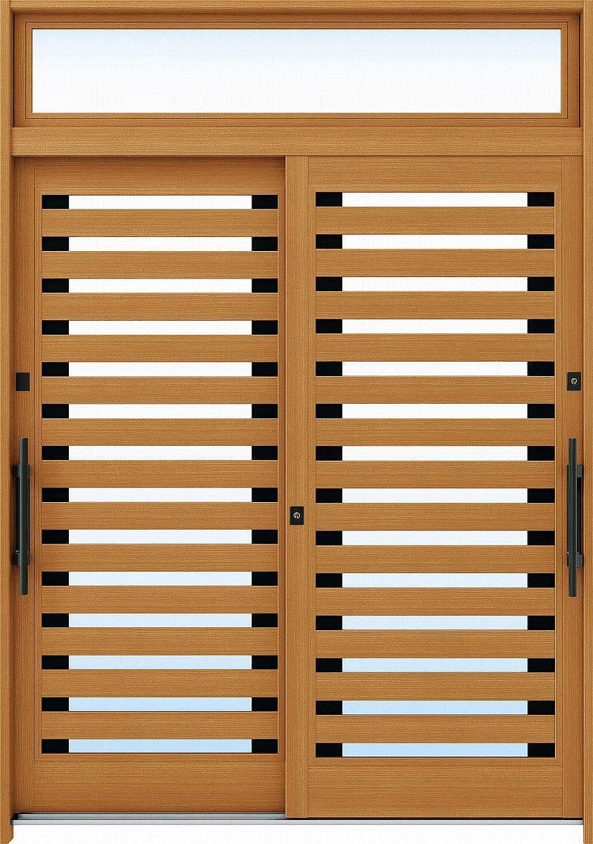 【25%OFF】 A09[木目柄]:複層ガラス[幅1690mm×高2330mm]【ykk】【YKK玄関引き戸】【れんじゅ】【玄関戸】【玄関ドア引戸】【gennkann】:ノース&ウエスト YKKAP玄関 断熱玄関引戸 れん樹[伝統和風] 6尺2枚建[ランマ付]-木材・建築資材・設備