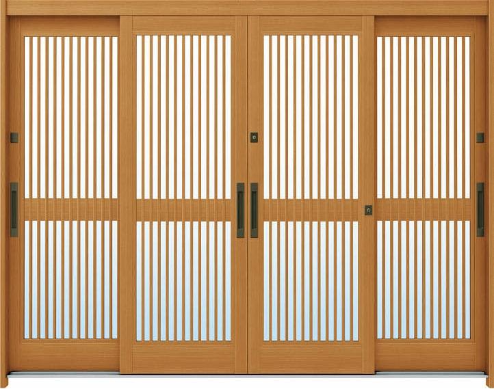 日本最大のブランド A03[木目柄]:複層ガラス[幅2600mm×高1930mm]【ykk】【YKK玄関引き戸】【れんじゅ】【玄関戸】【玄関ドア引戸】【gennkann】:ノース&ウエスト YKKAP玄関 れん樹[伝統和風] 断熱玄関引戸 9尺4枚建[ランマ無]-木材・建築資材・設備