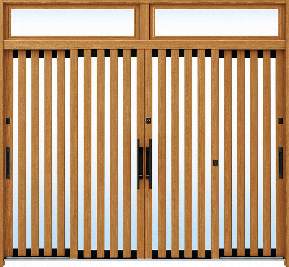 【数量は多】 断熱玄関引戸 A01[木目柄]:複層ガラス[幅2600mm×高2330mm]【ykk】【YKK玄関引き戸】【れんじゅ】【玄関戸】【玄関ドア引戸】【gennkann】:ノース&ウエスト YKKAP玄関 れん樹[伝統和風] 9尺4枚建[ランマ付]-木材・建築資材・設備