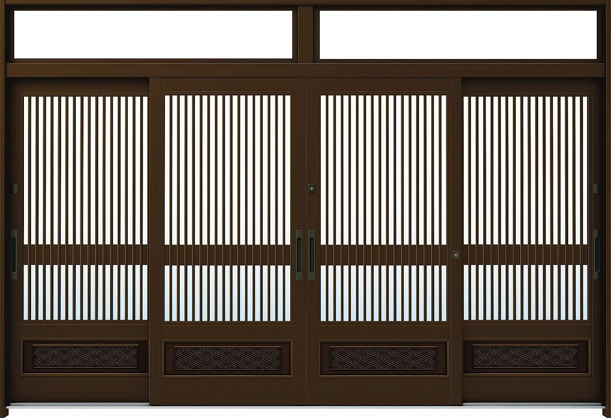 Four pieces of YKKAP entrance entrance sliding door れん tree [traditional Japanese style] 12 : door rammer - pezcame.com