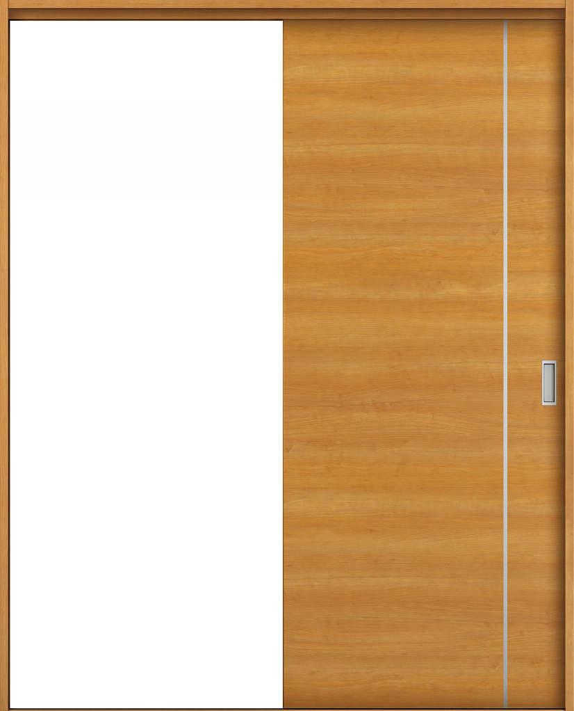 YKKAP室内引戸 ラフォレスタ[スタイリッシュ][木目横] 片引き戸 YC ノンケーシング枠[集合住宅向け]:[幅1188mm×高2033mm]【YKK】【YKK室内引戸】【室内引き戸】【室内建具】【木製建具】【間仕切】【上吊り引き戸】【引戸】【鍵付き引き戸】