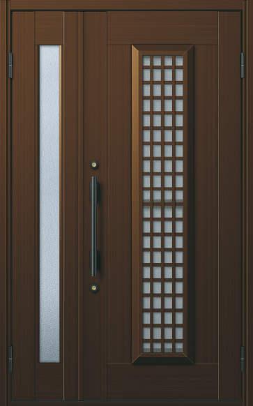 YKKAP玄関 玄関ドア 通風プロント[Cタイプ] 親子 ドア高20タイプ:S12型[幅1235mm×高2018mm]【ykk】【YKK玄関ドア】【通風ドア】【網戸付き】【通風玄関】