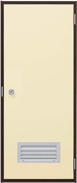 YKKAP勝手口 汎用ドア2HD[フラッシュドアタイプ] ガラリ付タイプ ランマ無[半外付]:[幅730mm×高2007mm]【ykk】【YKK勝手口ドア】【土間収まり】【サッシ】【レバーハンドル】【安価】【ケースハンドル】