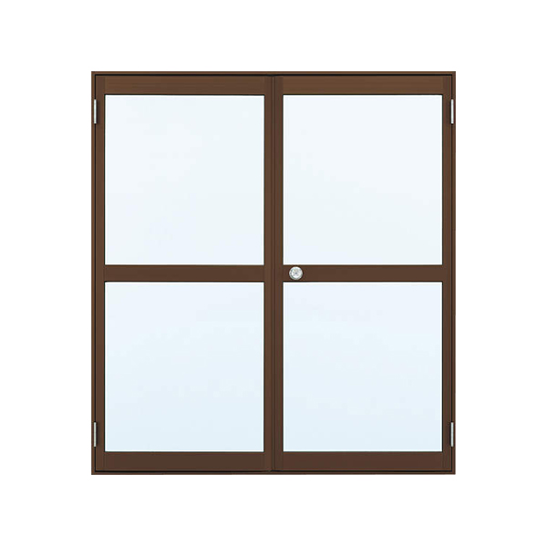 YKKAP勝手口 汎用ドア2HD[框ドアタイプ] 両開き 握り玉[ランマ無] 半外付:[幅1690mm×高2007mm]【ykk】【YKK勝手口ドア】【土間収まり】【ドア】【サッシ】【安価】