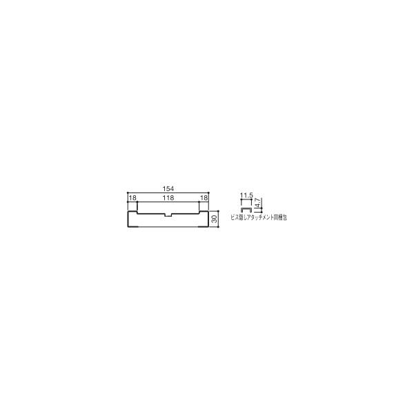 YKKAP造作材 和室用 間仕切り襖・間仕切り障子枠3枚建て:薄壁用縦枠[幅2100mm]【YKK】【YKK造作材】【YKK襖】【ふすま】【和障子】【室内ドア】【室内引き戸】【押入れ】【室内建材】【建材】