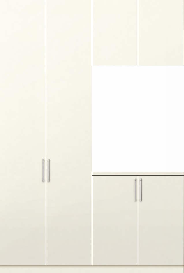 YKKAP収納 玄関収納 [2A]コの字型プラン W16[鏡面仕上げデザイン]:靴収納量 約29足 ミラー無【YKK】【YKK玄関収納】【下駄箱】【下足入れ】【キャビネット】【システム玄関収納】【壁付け】【鏡付き】【ユニット】