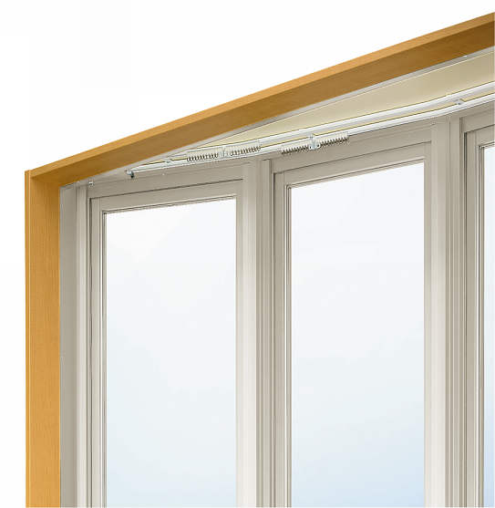 YKKAPオプション 窓サッシ 出窓 出窓300:ダブルカーテンレール[幅2600mm用] 台形出窓