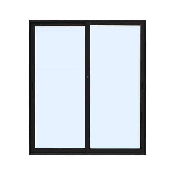 YKKAP店舗 断熱土間引戸 2枚建 ランマ無 中桟無:[幅1690mm×高2230mm]【ykk】【断熱サッシ】【土間収まり】【土間引き戸】【アルミ樹脂複合】【ペアガラス】