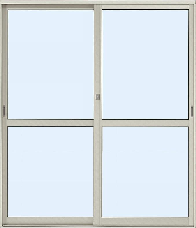 YKKAP店舗 断熱土間引戸 2枚建 ランマ無 中桟付:[幅1690mm×高1830mm]【ykk】【断熱サッシ】【土間収まり】【土間引き戸】【アルミ樹脂複合】【ペアガラス】