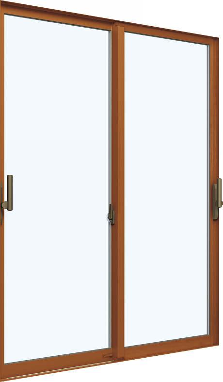 [福井県内のみ販売商品]引き違い窓 エピソード[複層ガラス] 2枚建[下枠ノンレール] サポートハンドル[キックプレート無]:[幅1870mm×高2230mm]