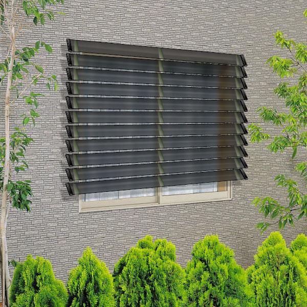 YKKAP窓まわり 目隠し ウインバイザー ポリカタイプ:[幅1820mm×高935mm]【YKK】【YKK目隠し】【防犯】【サッシ】【アルミサッシ】【目隠し】【日除け】【日よけ】【採光】【窓ガラス】