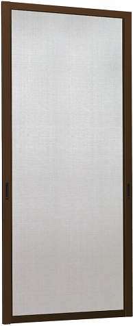 YKKAPオプション 窓サッシ コンセプト窓 ワイドスライディング:オーバルバーハンドル用 クリアネットスライド網戸[幅821mm×高2403mm]