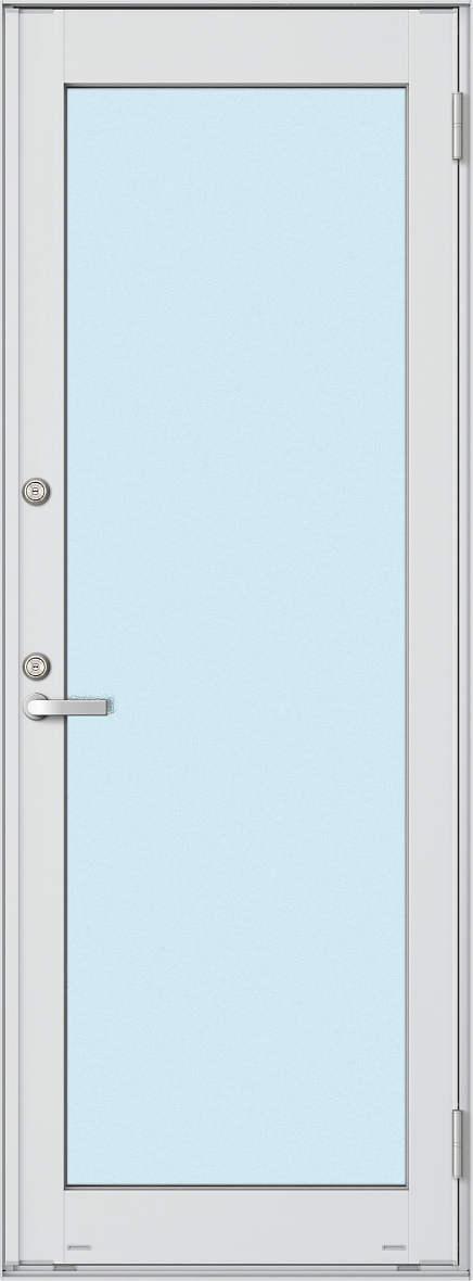YKKAP勝手口 框ドア エピソード仕様 複層ガラス[2シリンダー仕様] 全面ガラスタイプ[2×4工法][単純段差仕様]:[幅640mm×高2260mm]【ykk】【YKK勝手口ドア】【ドア】【アルミサッシ】【サッシ】【ペアガラス】【フロア収まり】