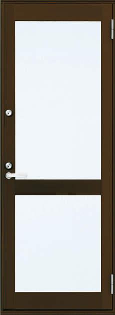 YKKAP勝手口 框ドア エピソード仕様 複層ガラス[2シリンダー仕様] 中桟付タイプ[2×4工法]:[幅640mm×高2245mm]【ykk】【YKK勝手口ドア】【ドア】【アルミサッシ】【サッシ】【ペアガラス】【フロア収まり】
