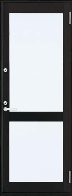 YKKAP勝手口 框ドア フレミングJ仕様 複層ガラス[2シリンダー仕様] 中桟付タイプ[2×4工法]:[幅640mm×高1845mm]【ykk】【YKK勝手口ドア】【ドア】【アルミサッシ】【サッシ】【ペアガラス】【フロア収まり】