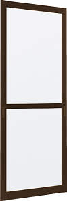 YKKAPオプション玄関引戸れん樹:片引込み戸専用中桟付網戸2枚建用木目柄