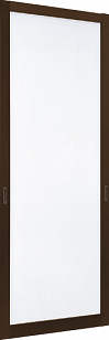 YKKAPオプション 玄関引戸 れん樹:片引込み戸専用網戸 2枚建用 アルミ色