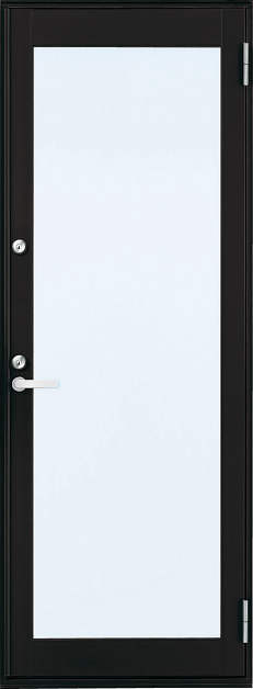 YKKAP勝手口 框ドア フレミングJ仕様 複層ガラス[2シリンダー仕様] 全面ガラスタイプ[プラットフォーム対応枠]:[幅640mm×高1830mm]【ykk】【YKK勝手口ドア】【ドア】【アルミサッシ】【サッシ】【ペアガラス】【フロア収まり】