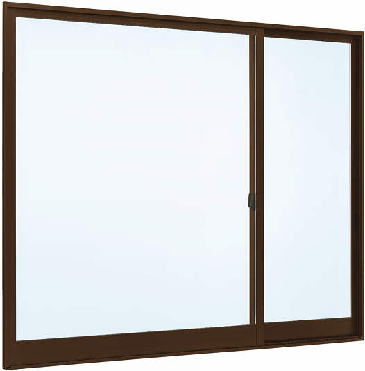YKKAP窓サッシ 片引き窓 フレミングJ[Low-E複層防音ガラス] 片袖 半外付型[Low-E透明5mm+透明4mm]:[幅1690mm×高1170mm]