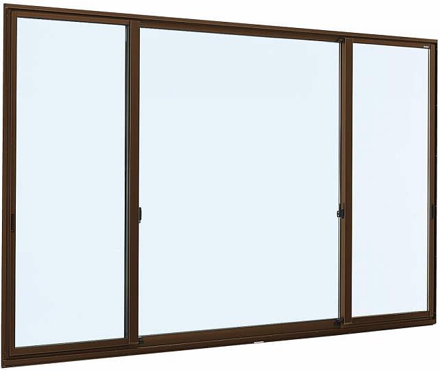 [福井県内のみ販売商品]片引き窓 フレミングJ[Low-E複層防犯ガラス] 両袖 半外付型[Low-E透明4mm+合わせ型7mm]:[幅2550mm×高2230mm]