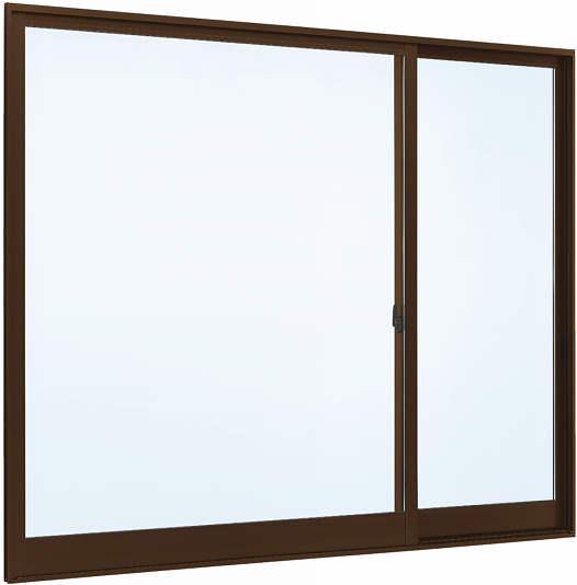 YKKAP窓サッシ 片引き窓 フレミングJ[複層防犯ガラス] 片袖 半外付型[透明3mm+合わせ透明7mm]:[幅1690mm×高970mm]