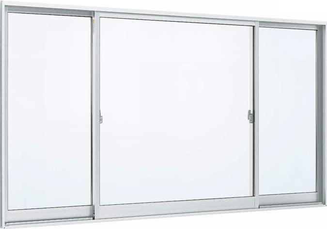 YKKAP窓サッシ 片引き窓 フレミングJ[複層防犯ガラス] 両袖 半外付型[透明3mm+合わせ透明7mm]:[幅2550mm×高970mm]