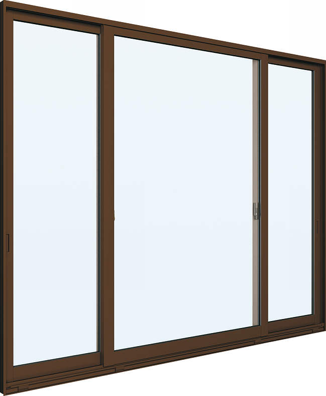 YKKAP窓サッシ 片引き窓 エピソード[Low-E複層ガラス] 両袖 半外付型:[幅1640mm×高770mm]