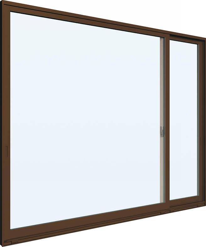 YKKAP窓サッシ 片引き窓 エピソード[Low-E複層防犯ガラス] 片袖 半外付型[Low-E透明5mm+合わせ型7mm]:[幅1235mm×高1170mm]