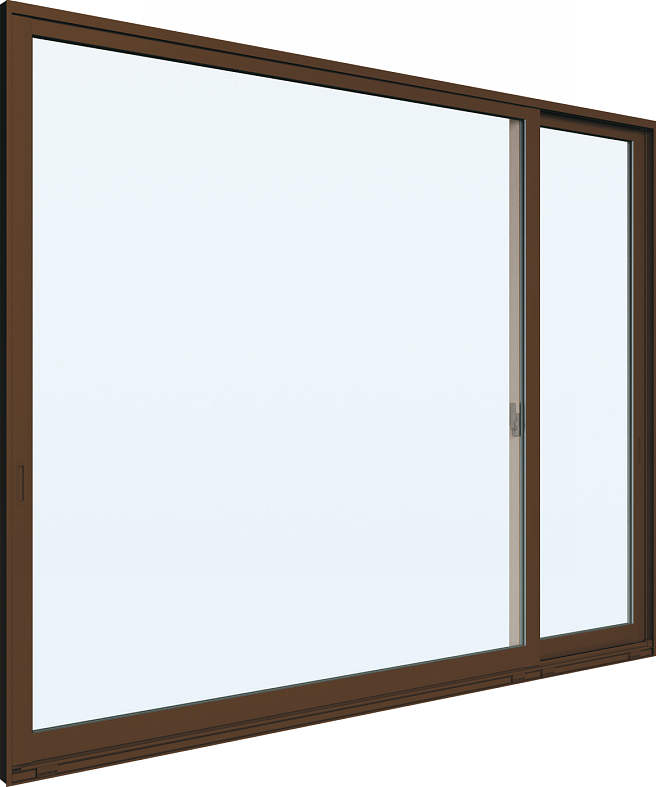 YKKAP窓サッシ 片引き窓 エピソード[Low-E複層防犯ガラス] 片袖 半外付型[Low-E透明3mm+合わせ型7mm]:[幅1640mm×高970mm]