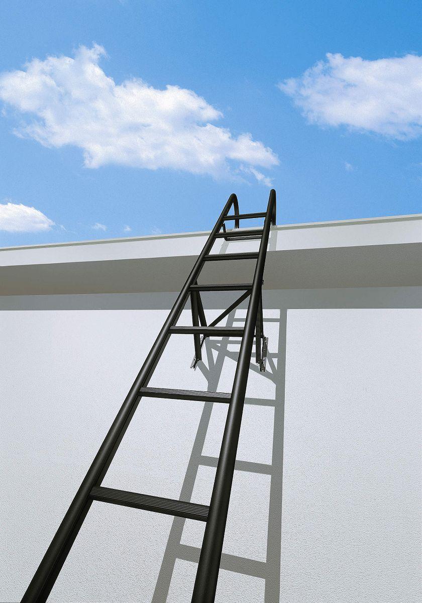 YKKAPウォールエクステリア アルミはしごエクスタラップII セット品:単体タイプ[幅430mm×高3375mm] 出幅:200mm【YKK】【壁付けはしご】【梯子】【ハシゴ】【屋上】【タラップ】【後付け】