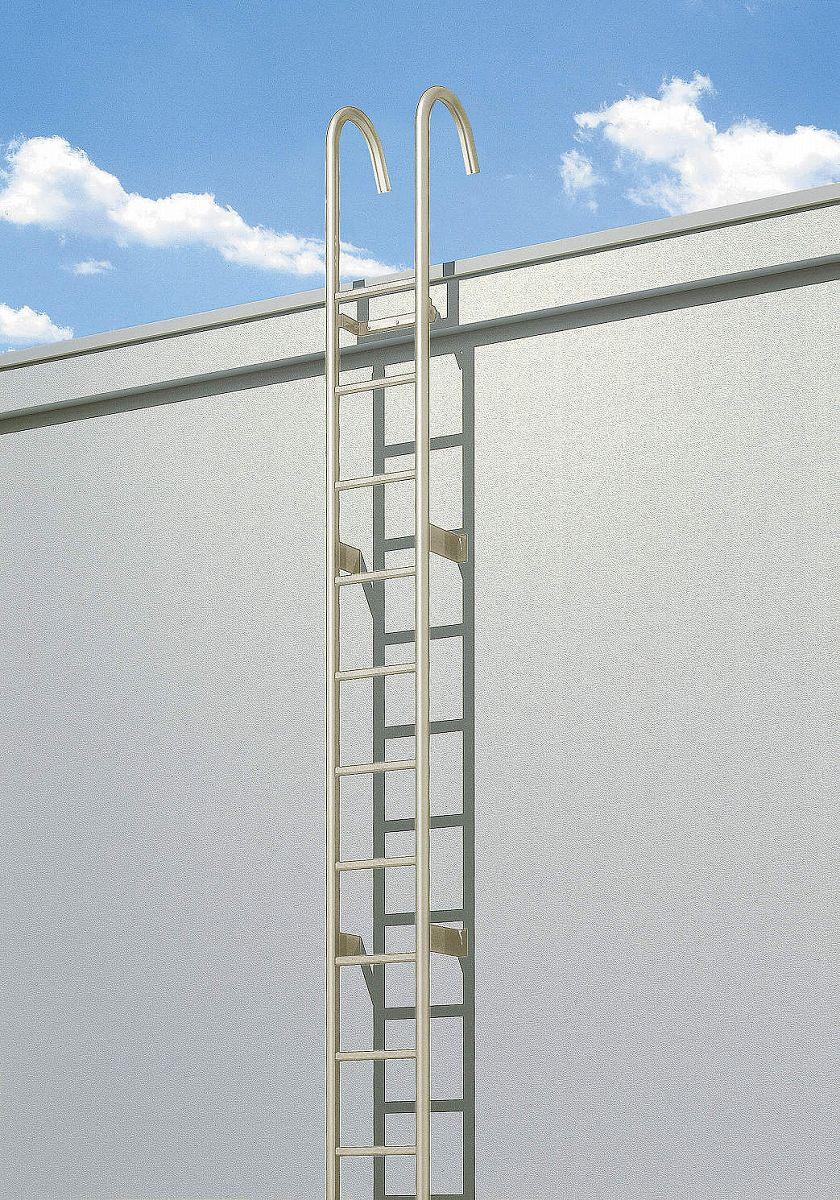 YKKAPウォールエクステリア アルミはしごエクスタラップII セット品:連結タイプ[幅430mm×高5825mm] 出幅:200mm【YKK】【壁付けはしご】【梯子】【ハシゴ】【屋上】【タラップ】【後付け】