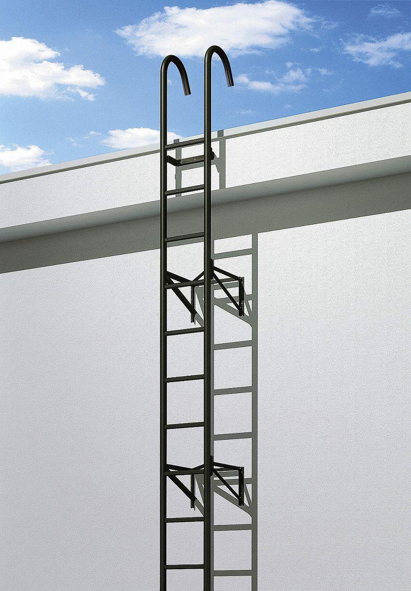 YKKAPウォールエクステリア アルミはしごエクスタラップII セット品:連結タイプ[幅430mm×高5825mm 出幅:600mm【YKK】【壁付けはしご】【梯子】【ハシゴ】【屋上】【タラップ】【後付け】