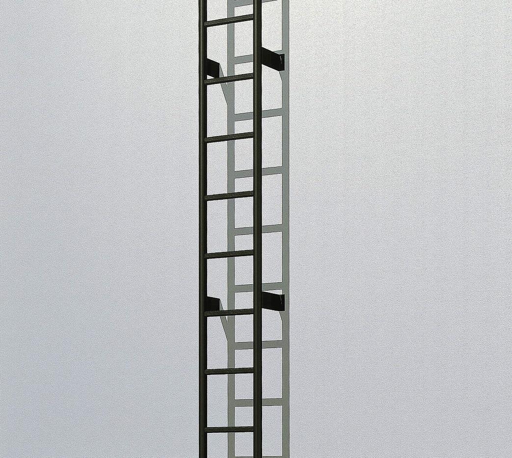 YKKAPウォールエクステリア アルミはしごエクスタラップII 本体ユニット:[幅430mm×高2800mm]【YKK】【壁付けはしご】【梯子】【ハシゴ】【屋上】【タラップ】【後付け】