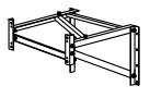 YKKAPウォールエクステリア アルミはしごエクスタラップII 取付ブラケット:出幅300用2個入り【YKK】【壁付けはしご】【梯子】【ハシゴ】【屋上】【タラップ】【後付け】