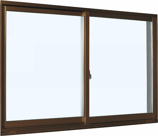 YKKAP窓サッシ 引き違い窓 エピソード[Low-E複層防音ガラス] 2枚建 半外付型[Low-E透明5mm+透明3mm]:[幅870mm×高1170mm]