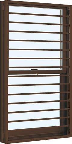 YKKAP窓サッシ 装飾窓 フレミングJ[Low-E複層防音ガラス] 面格子付片上げ下げ窓 横格子[Low-E透明4mm+透明3mm]:[幅405mm×高1170mm]