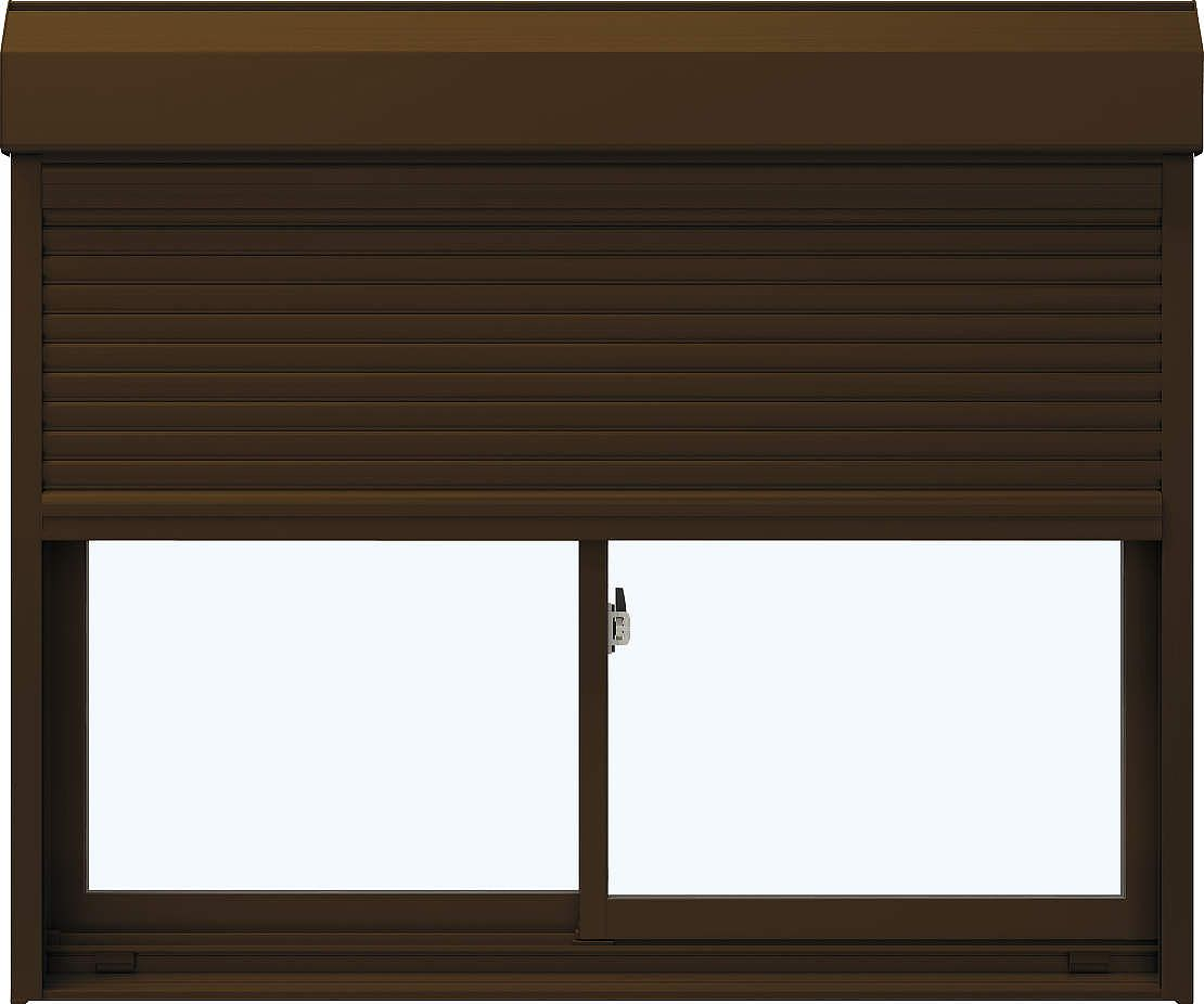 [福井県内のみ販売商品]YKKAP 引き違い窓 エピソード[Low-E複層防音ガラス] 2枚建[シャッター付] スチール耐風[2×4][Low-E透明4mm+透明3mm]:[幅2470mm×高1845mm]