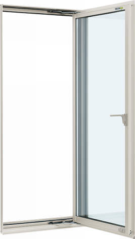 YKKAP窓サッシ 装飾窓 フレミングJ[Low-E複層防犯ガラス] たてすべり出し窓 カムラッチ仕様Low-E透明3mm+合わせ透明7mm:[幅640mm×高1370mm]