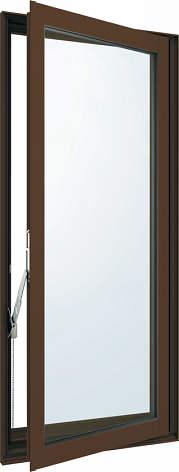 YKKAP窓サッシ 装飾窓 フレミングJ[Low-E複層防犯ガラス] 高所用たてすべり出し窓 [Low-E透明4mm+合わせガラス型7mm]:[幅405mm×高1370mm]